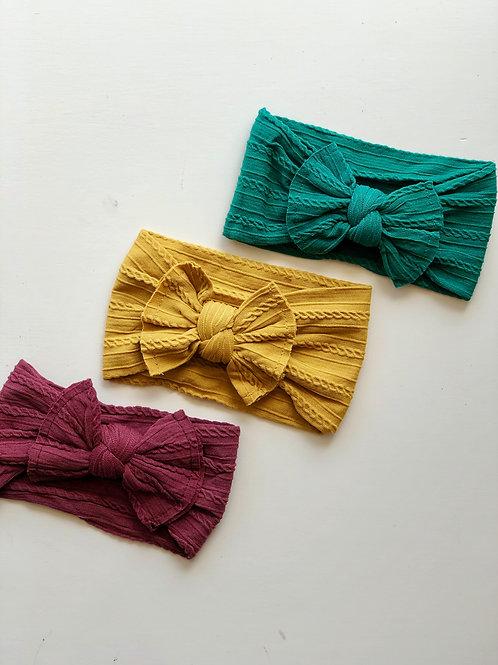 Cable-knit Nylon Headwrap