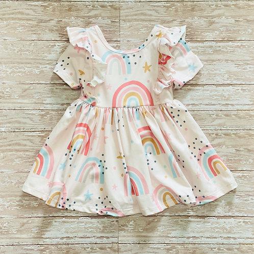 Ruffle RainbowTwirl Dress