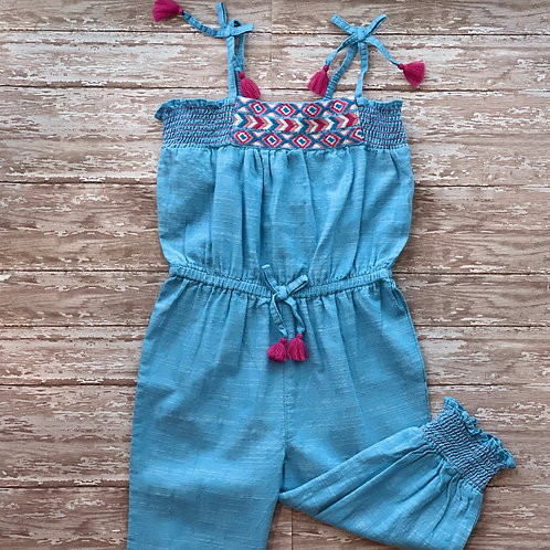 Chambray Smocked Playsuit