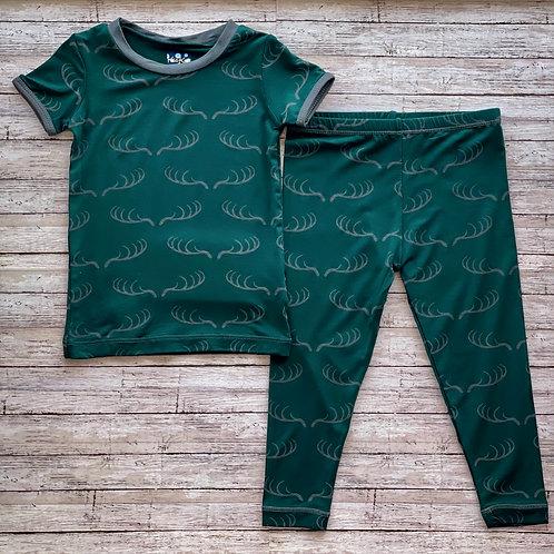 Pine Deer Rack Pajama Set