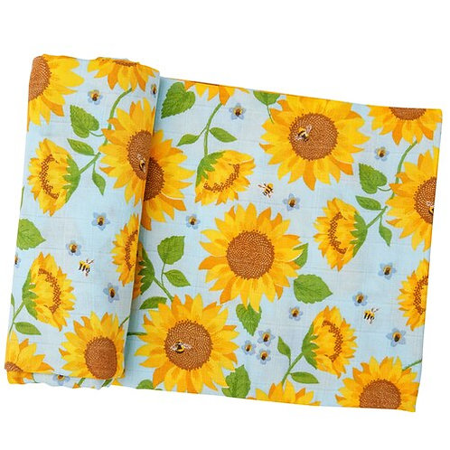 Sunflower Muslin Swaddle