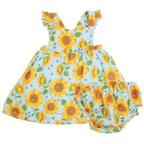 Sunflower Pinafore Set