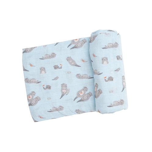 Otter Muslin Swaddle Blanket