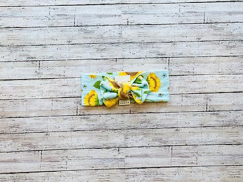 Sunflower Bow Headwrap