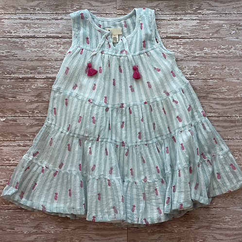 Party Pineapples Tiered Dress