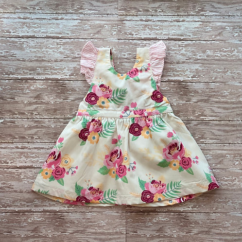 Darling Bouquets Pinafore Dress