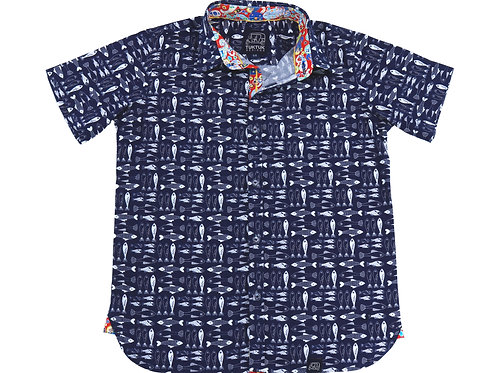Plenty of Fish Short Sleeve Button Down