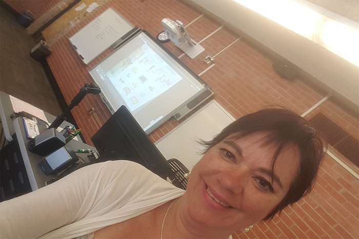 Teacher Beatriz Castillejo