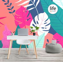 Colorful leaves wall murals