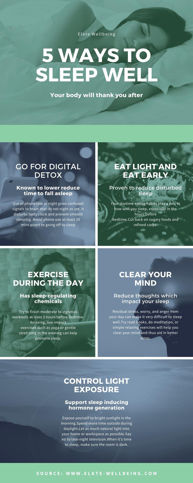 5 ways to sleep well