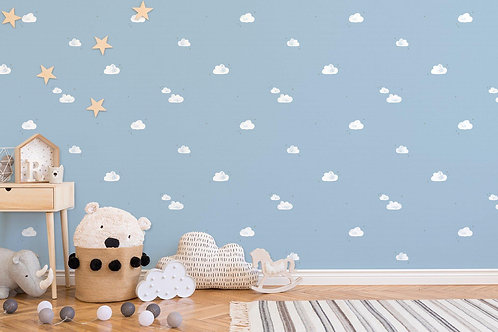 Sky and cloud wallpaper for kids