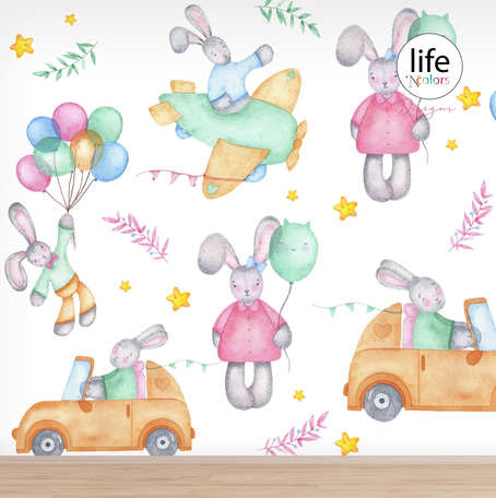 Balloon wallpapers for new born babies rooms