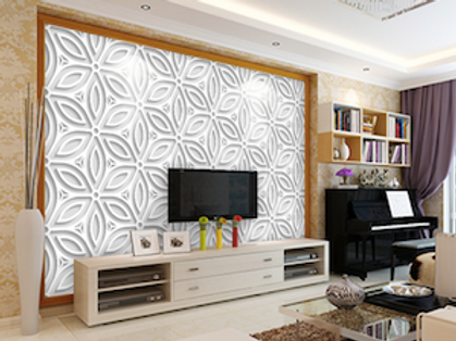 3D white floral wallpaper for walls