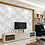 Thumbnail: 3D white floral wallpaper for walls