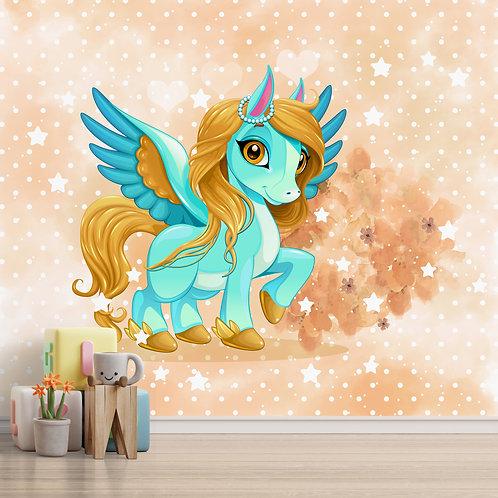 Girl room unicorn wallpaper