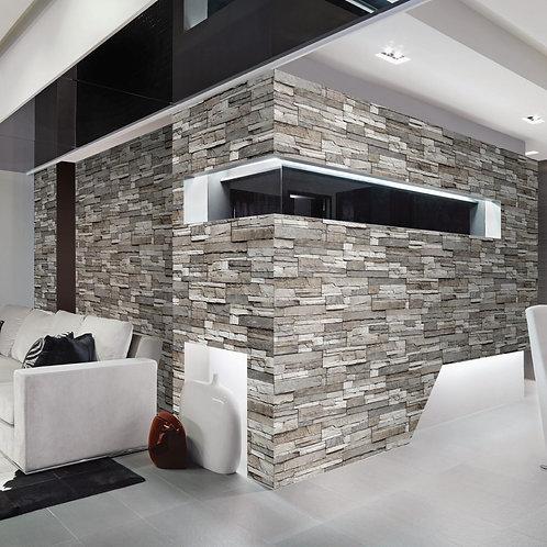 Grey stone tiles wallpaper