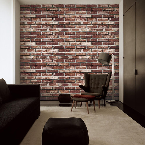 Exposed red brick look wallpapers