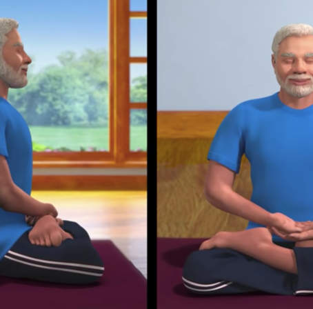 "Yoga: an Integral Part of my life""- Prime Minister Modi"