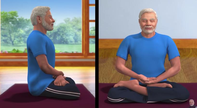 PM Modi Yoga Session