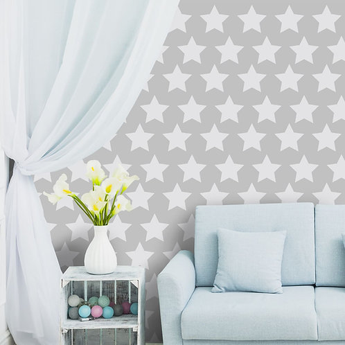 Stars Theme Repeat Pattern Wallpaper for Young Children Rooms