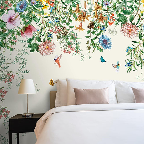 Unique Floral and Bird Wallpaper for Bedrooms