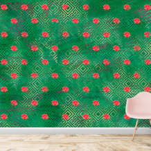 bright green and red wallpapers for wall
