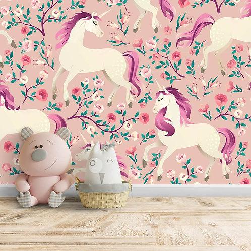 Amazing Unicorns Wallpaper Design for Girls Room, Customised