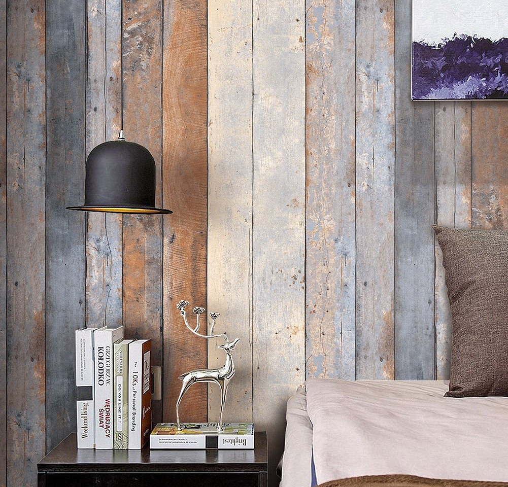 Wood patten 3D wallpapers to get the oomph for your walls.