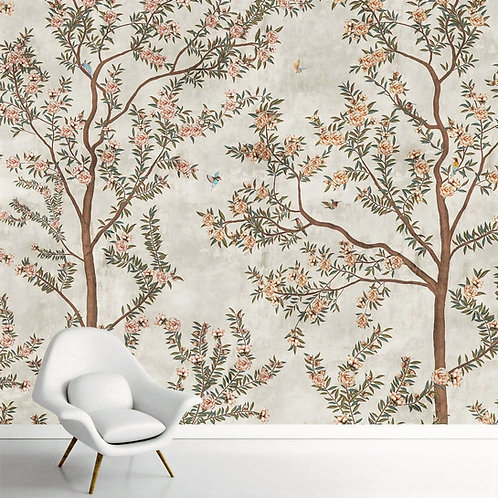 Chinoiserie Pattern Wallpaper for Walls, Customised