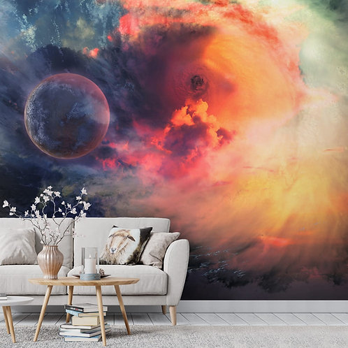 Vibrant Galaxy and Star Wallpaper for Walls and Ceiling, Customised