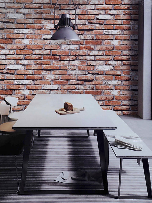 Red brick 3D look wallpapers (57 Sqft roll)