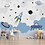 Thumbnail: Cute Space Theme Wallpaper for Kids Room, Blue & Grey