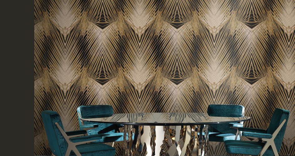 LifeNcolors-best-wallpaper-branded-luxury-pattern-robertocavalli-yellow-black
