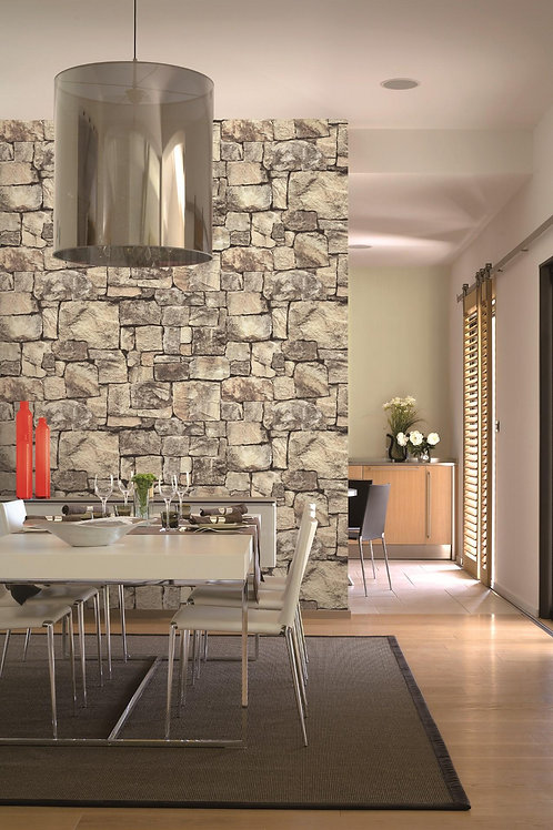Natural stone look wallpaper
