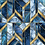 Blue and Golden Marble Pattern Wallpaper for Rooms