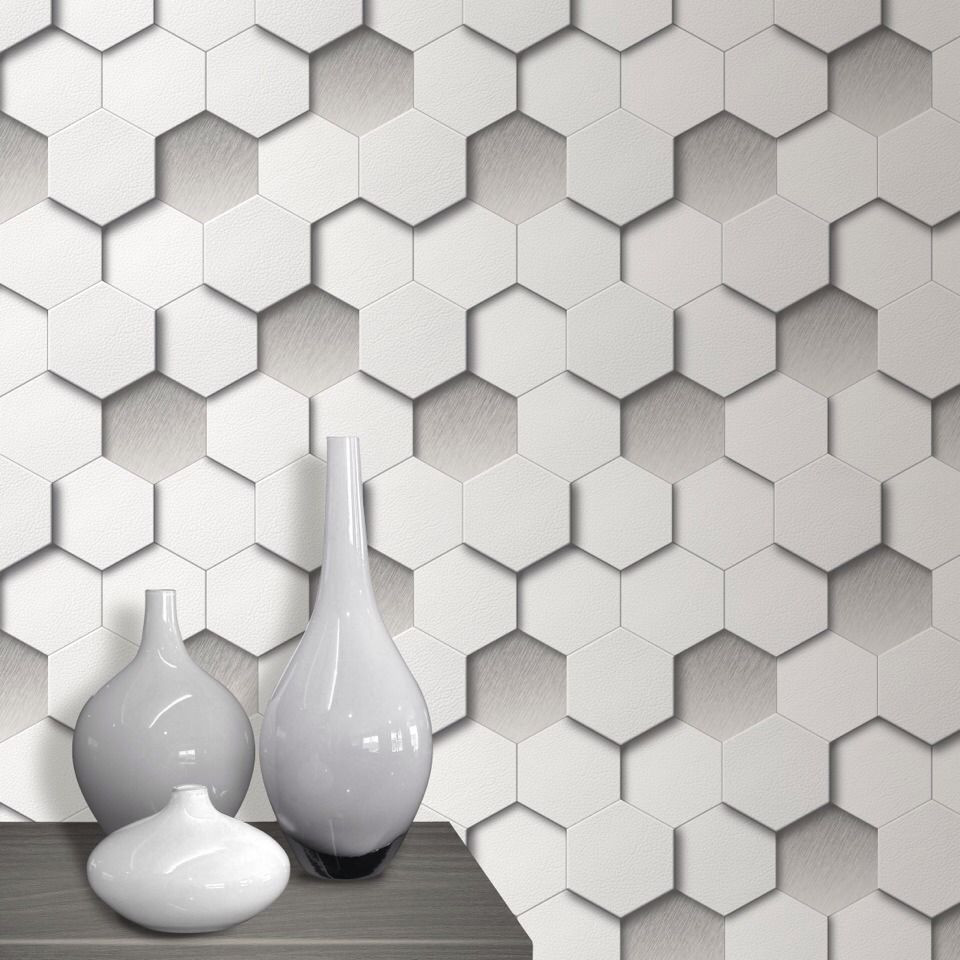 LifeNcolors-best-3D-wallpaper-hexagon-grey