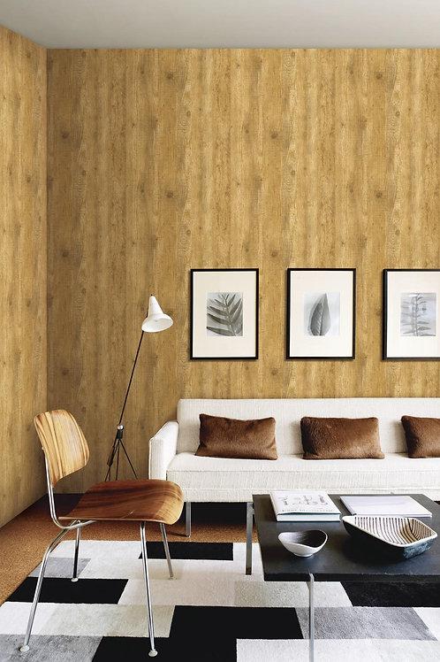 Vertical wooden panel wallpaper
