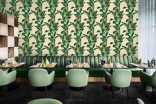Tropical Theme Wallpaper for Rooms (54 sqft roll)