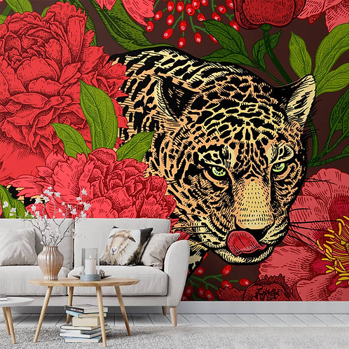 Leopard Wallpaper, Colorful and Exotic Design, Customised