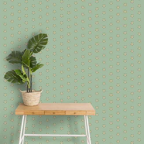 Classy Pista Green Colors Wallpaper for Rooms, Customised