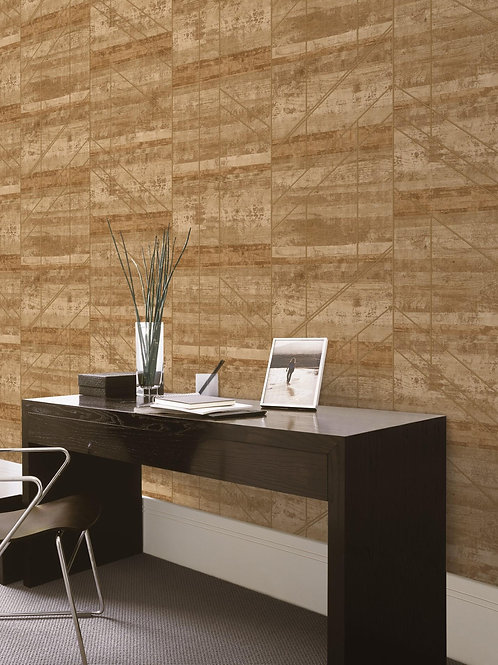 Wooden Panel Look Wallpaper