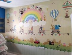Disney Cartoons in Kids Room Wallpaper, Life N Colors