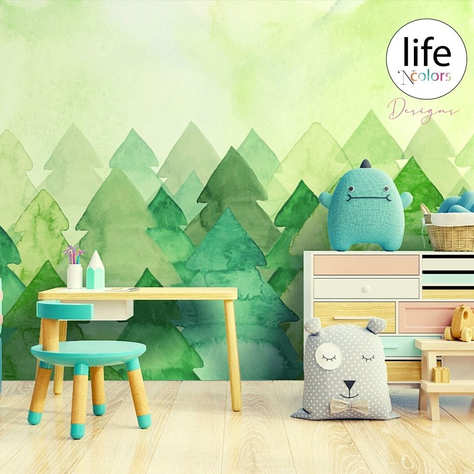 Kids Bedroom Wallpapers by Life N Colors