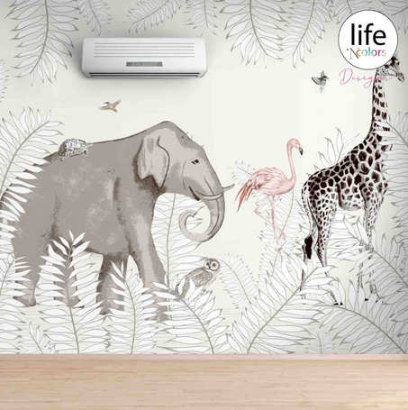 Life N Colors Jungle themed wallpapers for kid's rooms