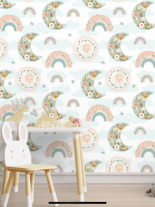 Colorful Rainbow Pattern for Kids Room