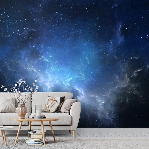Sky and Space Theme Wallpaper for walls and ceilings, Blue