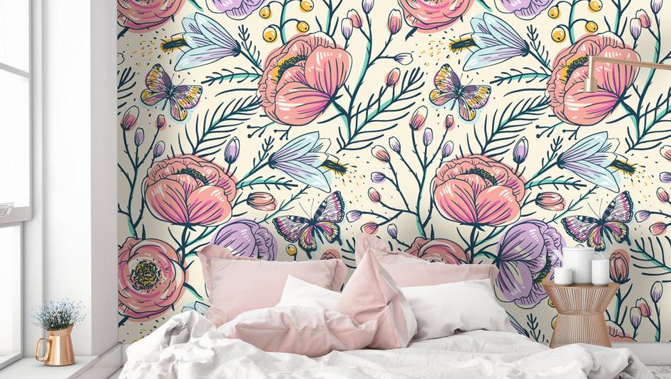 LifeNcolors-best-Floral-wallpaper-big-pink-purple