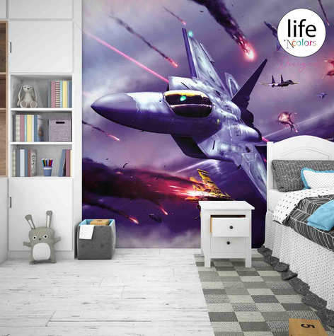 Life N Colors wallpapers for kid's rooms star wars