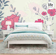 Large flowers Wallpapers for Bedrooms