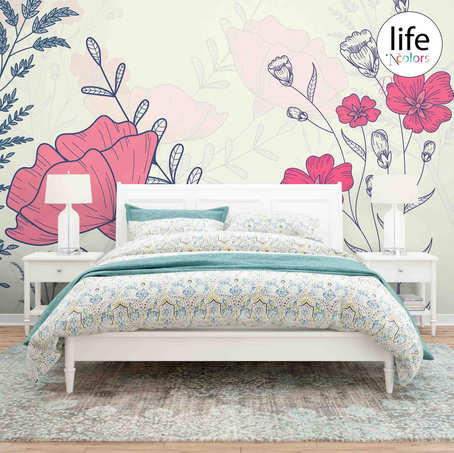 Floral Designs Wallpapers for Bedrooms